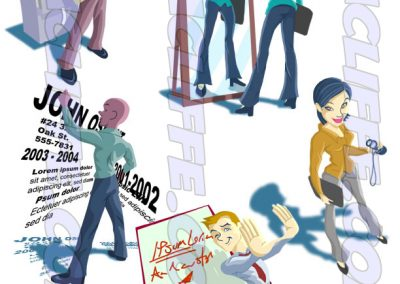 ILLUSTRATION - Character illustration for online software product.